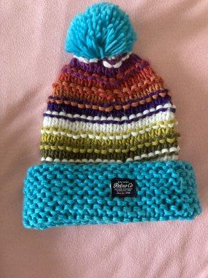 Retro Brand Bonnet en crochet multicolore
