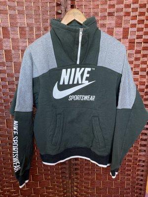 Retro Nike Sweatshirt Sweater Grün Grau Größe XS