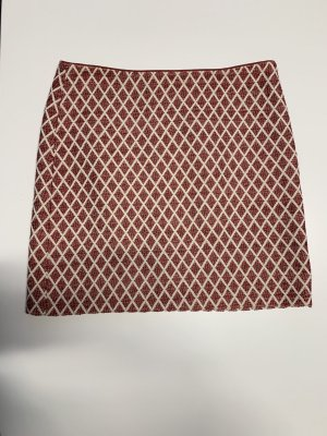 Esprit Circle Skirt dark red-white mixture fibre
