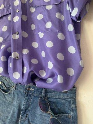 Shirt met korte mouwen wit-paars
