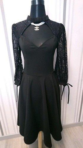 Belsira Sukienka o kroju litery A czarny Poliester