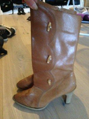 Buskins beige leather