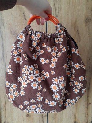 Bolso de tela naranja oscuro-coñac Algodón