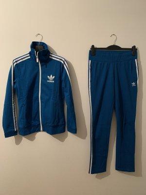 Retro Trainingsanzug von Adidas Originals in Türkisblau in Größe 40 (eher 38)