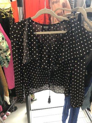 Retro vintage bluse schwarz weiss