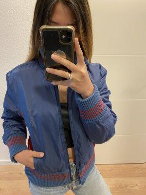 Tommy Jeans Fleece Jackets blue-red