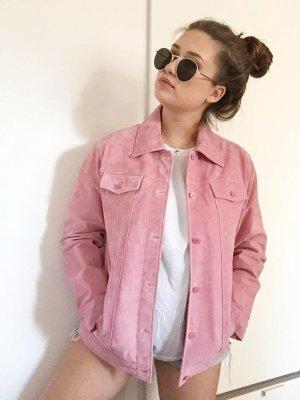 Retro wildlederjacke rosa mit Taschen