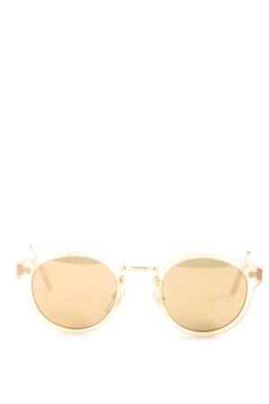 Retrosuperfuture Occhiale da sole rotondo oro stile casual