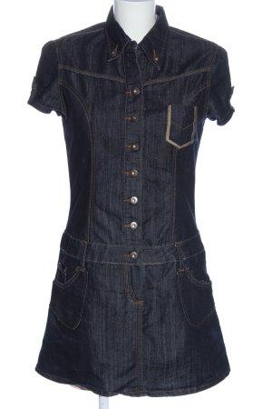 Revers Jeans Jeanskleid