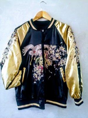 Bomber Jacket black-gold-colored