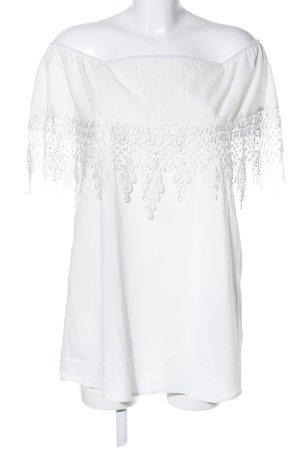 Reverse Blouse Carmen blanc style décontracté