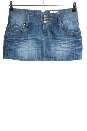 Reverse Jupe en jeans bleu style décontracté