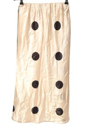 Reverse Jupe mi-longue crème-noir motif de tache style décontracté