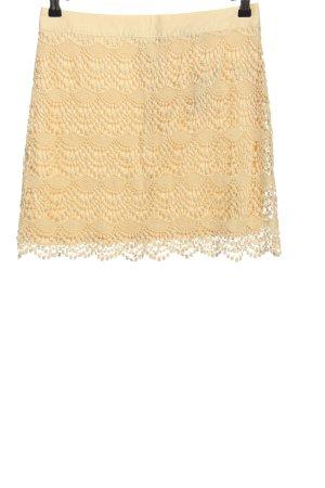 Reverse Kanten rok sleutelbloem zakelijke stijl