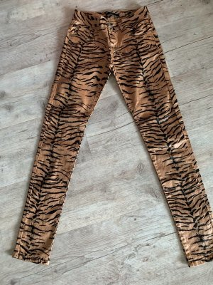 Reverse Tiger Skinny/Hose - Camel/Braun - Größe XS/34 - Beschichtet