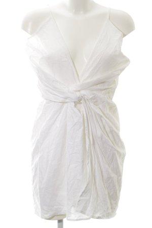 Reverse Robe à bretelles blanc style décontracté