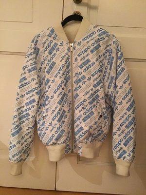 Adidas originals by Alexander Wang Giacca bomber bianco-blu neon