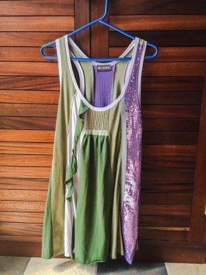 Reverso Kleid Sommerkleid Impressionen Pailletten Tunika Swingkleid Swingdress Minikleid Oversized