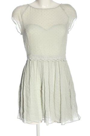 Review Vestido línea A blanco puro elegante