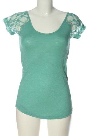 Review Shirt basique turquoise style décontracté
