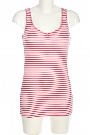 Review Basic Top pink-weiß Streifenmuster Casual-Look