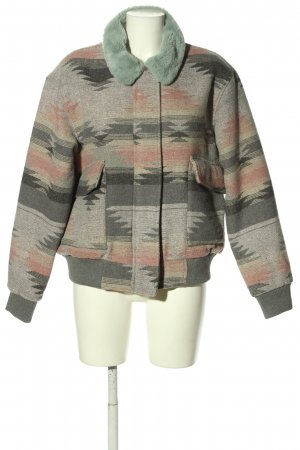 Review Giacca bomber grigio chiaro-rosa motivo astratto stile casual
