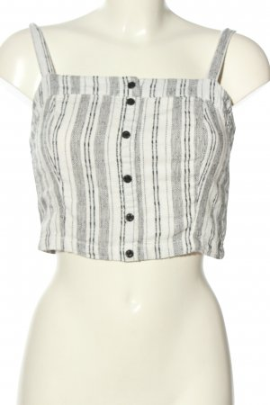 Review Crop-top gris clair-blanc cassé motif rayé style décontracté
