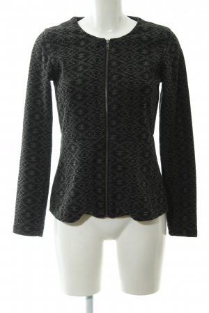 Review Cardigan schwarz-grau Allover-Druck Casual-Look