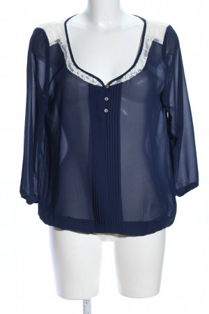 Review Carmen-Bluse blau Casual-Look