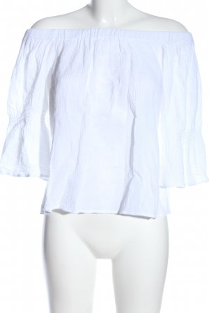 Review Camisa tipo Carmen blanco look casual