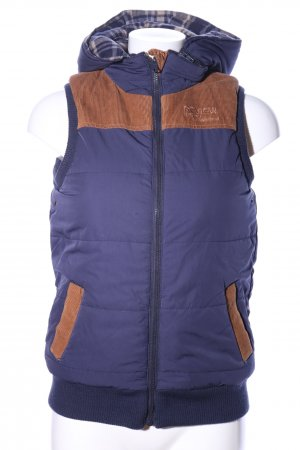 Review Down Vest blue-brown casual look