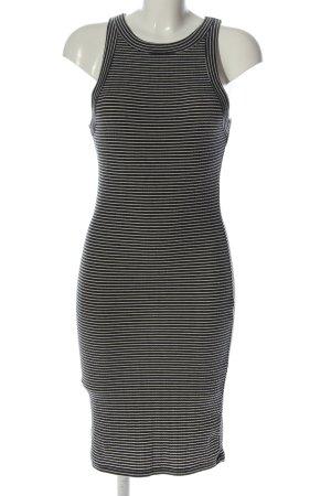 Review Vestido de tubo negro-blanco puro estampado a rayas look casual