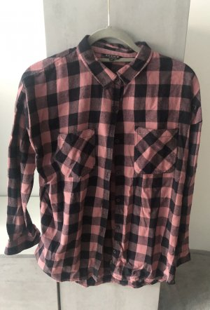 Review Flannel Shirt pink-black