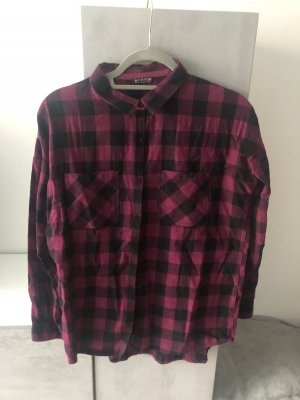 Review Flannel Shirt purple-black