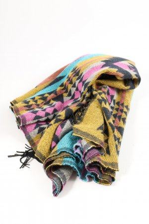 Review Fringed Scarf allover print casual look