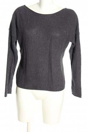 Review Coarse Knitted Sweater black flecked casual look