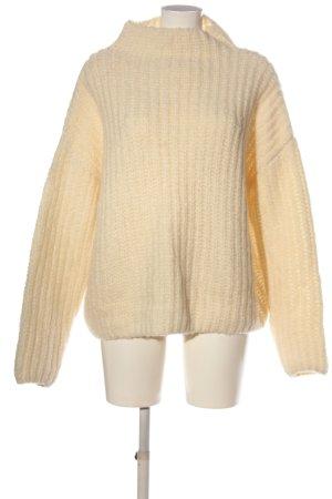 Review Pullover a maglia grossa crema punto treccia stile casual