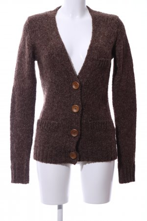Review Cardigan all'uncinetto bronzo puntinato stile casual