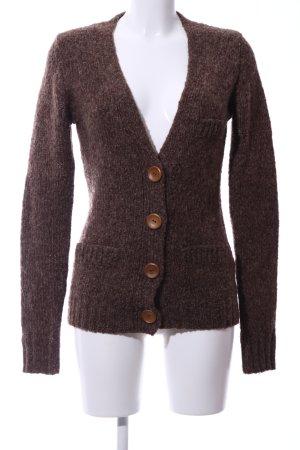 Review Cardigan en crochet bronze moucheté style décontracté