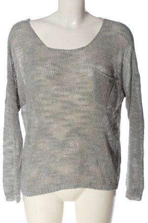 Review Jersey de ganchillo gris claro moteado look casual