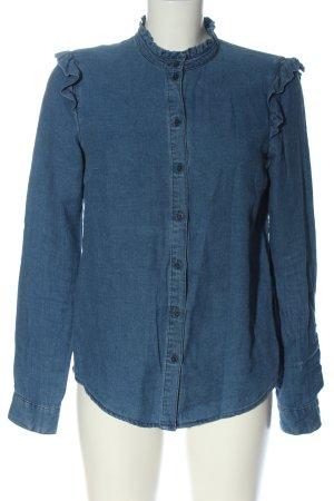 Review Hemd-Bluse blau Casual-Look