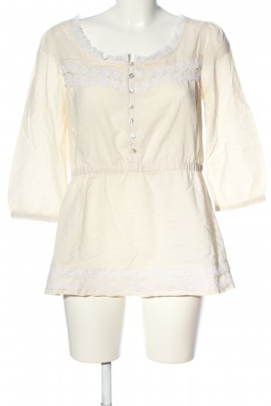 Review Hemd-Bluse creme-weiß Casual-Look
