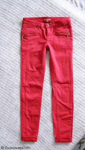 Review Pantalón de tubo rojo ladrillo