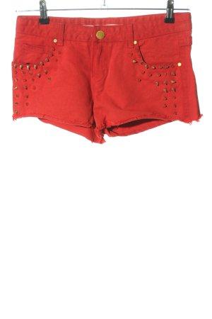 Review Hot Pants rot-goldfarben Casual-Look