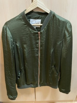 Review Blouse Jacket gold-colored-dark green