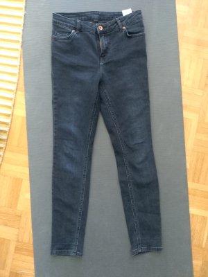 Review Jeans a vita alta blu scuro