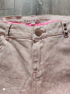 Review Jeans nude rosa beige mit Nieten
