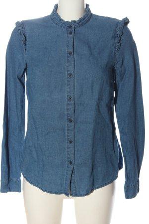 Review Blouse en jean bleu style décontracté