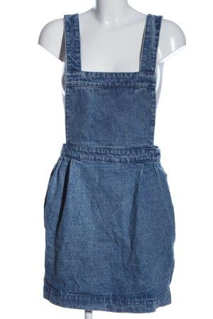 Review Robe en jean bleu moucheté style décontracté