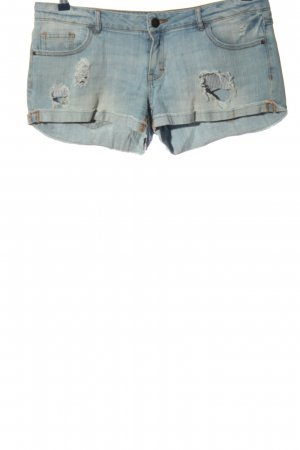 Review Denim Shorts blue casual look